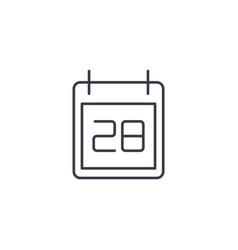 date and time calendar thin line icon linear vector image