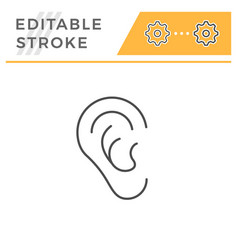 ear line icon vector image