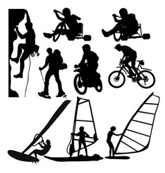 Extreme Sports Silhouette vector image