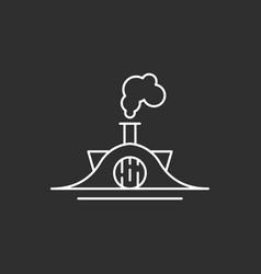 fairytale house icon vector image