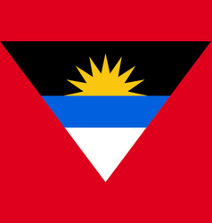Flag antigua barbuda flat icon vector