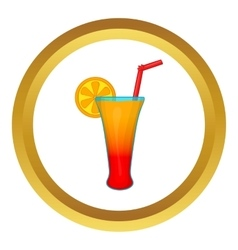 Fruit cocktail icon vector image