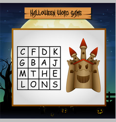 game halloween find the word of castle vector image
