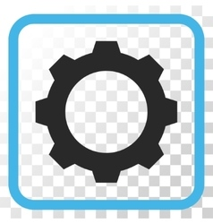Gear Icon In a Frame vector image