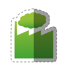 Green building factory environment vector