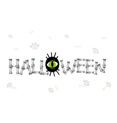halloween holiday poster -02 vector image