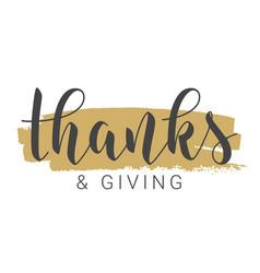 handwritten lettering thanksgiving vector image