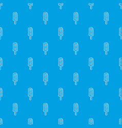 Ice lolly pattern seamless blue vector