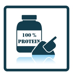 Icon of Protein conteiner vector image