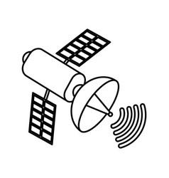 Isolated satellite design vector