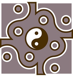 Jing jang theme vector