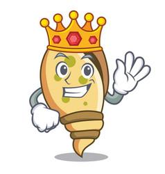 King sea shell mascot cartoon vector