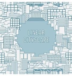 Linear cityscape 1 vector image