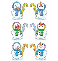 little snowman vector image