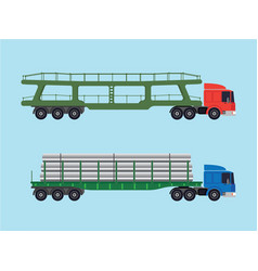 long-size trucks vector image