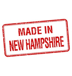 Made in New Hampshire red square isolated stamp vector