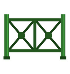 Metal fence icon isolated vector