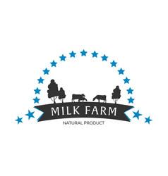 Milk emblem labels logo and design elements vector