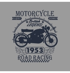 Motorcycle Racing Typography Graphics Label T vector