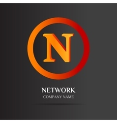 N Letter logo abstract design vector image