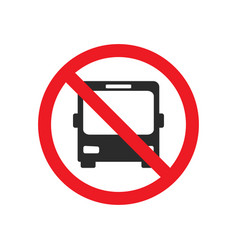 no bus allowed street sign vector image