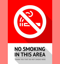 No smoker poster vector