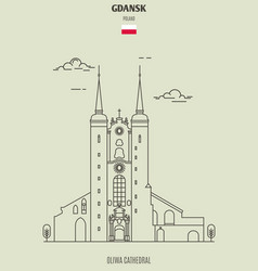 oliwa cathedral in gdansk vector image