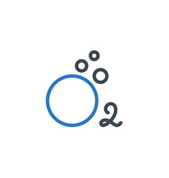 oxygen related glyph icon vector image