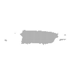 pixel map of puerto rico dotted map of puerto vector image