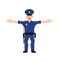 police officer happy emoji isolated policeman vector image
