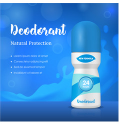 realistic detailed 3d deodorant composition ads vector image