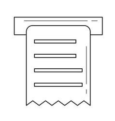 Receipt amount line icon vector