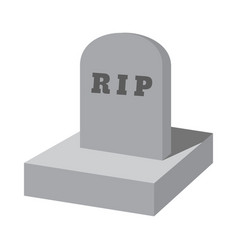Rip grave cartoon icon vector
