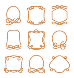 Rope frame set vector