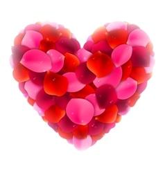 Rose Petals Love Heart vector