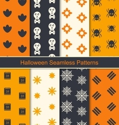 Seamless Textures for Happy Halloween vector image