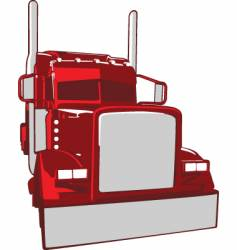 Semi truck illustration vector