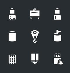 set of bridge pile installation icons vector image