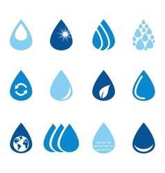 Set of water drops vector