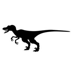silhouette velyciraptor dinosaur jurassic vector image
