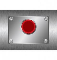 silver metal button vector image