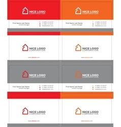 simple house business card 1 vector image
