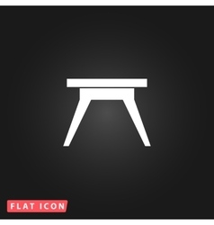 Small table icon vector