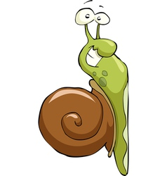 Snail crawling up vector