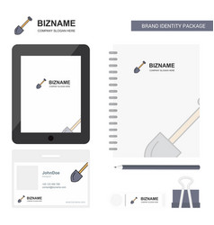 spade business logo tab app diary pvc employee vector image