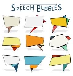Speechbubbles vector image