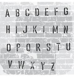 stencil grunge font vector image vector image