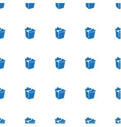 Take away food icon pattern seamless white vector