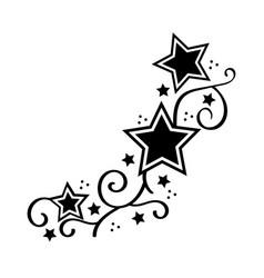 Tattoo star stencyl design - ready for print vector