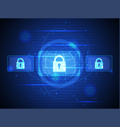 technology digital security of cyber vector image